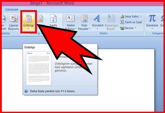 microsoft-word-de-ustbilgi-ekleme-adim2