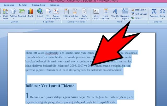 microsoft-word-de-yer-imi-isareti-ekleme-adim1