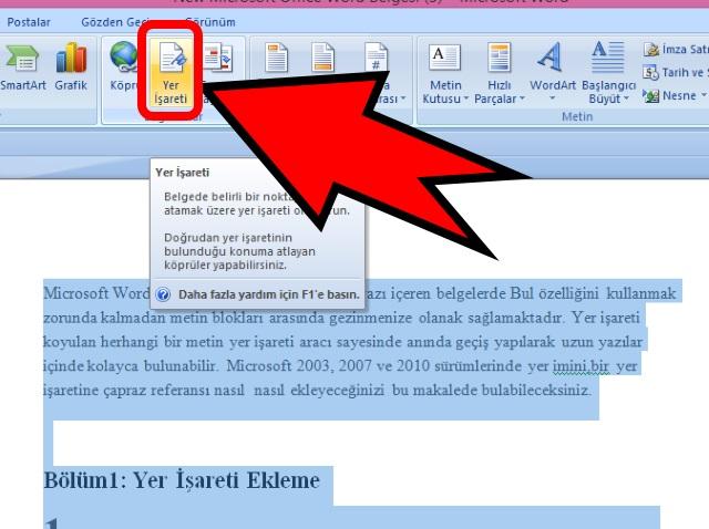 microsoft-word-de-yer-imi-isareti-ekleme-adim2