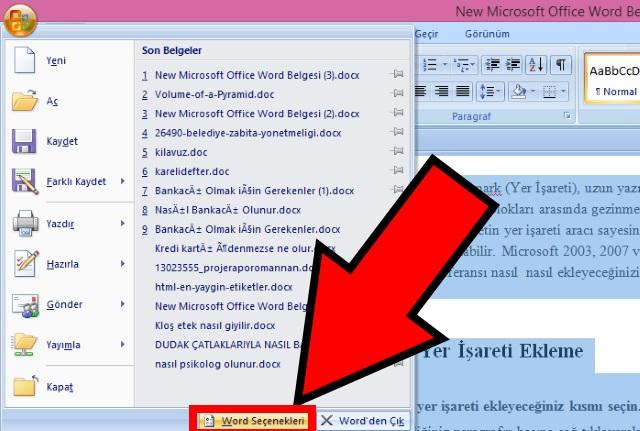 microsoft-word-de-yer-imi-isareti-ekleme-adim5